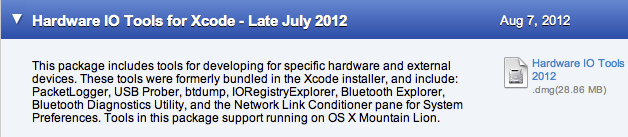 Installing Network Link Conditioner - Hardware IO Tools for Xcode